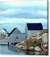 Boathouses Canvas Print