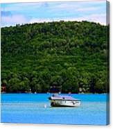 Boating At Sleeping Bear Dunes Lake Michigan Canvas Print