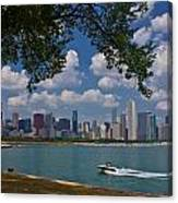 Boating In Chicago  Canvas Print