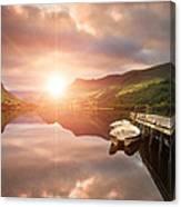 Boating Lake Sunrise Canvas Print