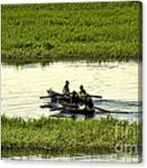 Boating On The Nile River Canvas Print