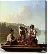 Boatmen On The Missouri Canvas Print