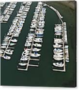 Boats And Docks At Cap Sante Marina Canvas Print