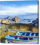 Boats And Floating Islands Canvas Print