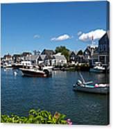 Boats At A Harbor, Nantucket Canvas Print