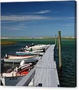 Boats At Bass Hole  Canvas Print