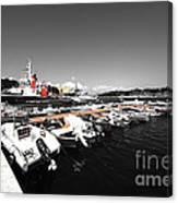 Boats At Brindisi Canvas Print