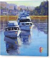 Boats At Merimbula Australia  Canvas Print