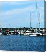 Boats At Newport Ri Canvas Print
