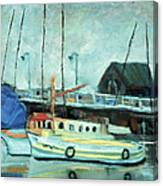 Boats At Provincetown Ma Canvas Print