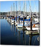 Boats At Rest. Sausalito. California. Canvas Print
