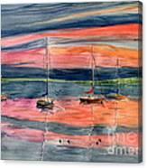 Boats At Skaneateles Lake Ny Canvas Print