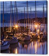 Boats At Sunset Canvas Print