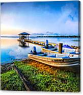 Boats At The Lake Canvas Print