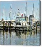 Boats At The Marina Canvas Print