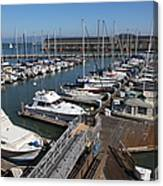 Boats At The San Francisco Pier 39 Docks 5d26004 Canvas Print