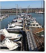 Boats At The San Francisco Pier 39 Docks 5d26005 Canvas Print