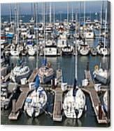 Boats At The San Francisco Pier 39 Docks 5d26009 Canvas Print