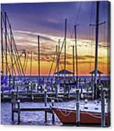 Boats In Awe Canvas Print