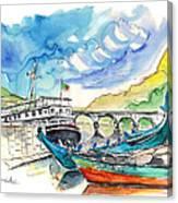 Boats In Barca De Alva 02 Canvas Print