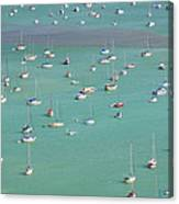Boats In Harbor Canvas Print