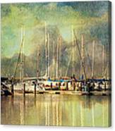 Boats In Harbour Canvas Print