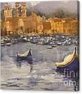 Boats In Malta Canvas Print