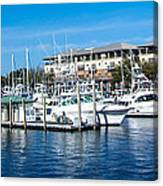 Boats In Port 5 Canvas Print