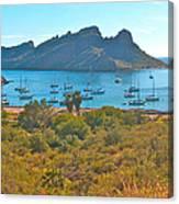 Boats In San Carlos Harbor-sonora-mexico Canvas Print