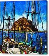 Boats Of Morro Bay Canvas Print