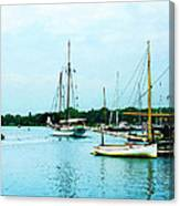 Boats On A Calm Sea Canvas Print