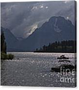 Boats On Jackson Lake - Grand Tetons Canvas Print