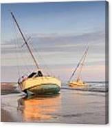 Accidentally - Boats On The Beach Canvas Print
