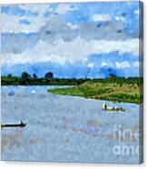 Boats Painting Canvas Print
