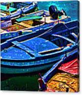 Boats Snuggling - Sicily Canvas Print