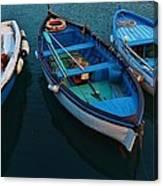 Boats Trio Canvas Print