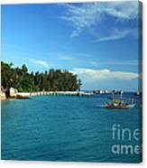 Boats With Beautiful Sea Canvas Print
