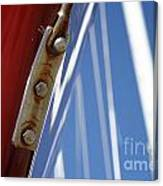 Boatyard Red White And Blue Canvas Print