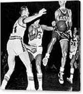 58e087453 Bob Cousy Passes Basketball Canvas Print   Canvas Art by Underwood ...