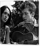 Bob Dylan And Joan Baez Canvas Print