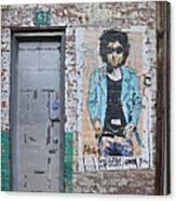 Bob Dylan Graffiti Canvas Print