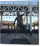 Bob Feller Bronze Statue Canvas Print