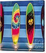 Bob Marley Surfing Display Canvas Print