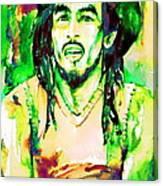 Bob Marley Watercolor Portrait.9 Canvas Print