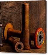 Bobbins And Spools Canvas Print
