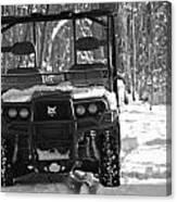 Bobcat Atv In Winter Canvas Print