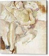 Bobette Lying Down Bobette Allongee Canvas Print