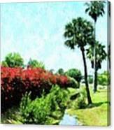 Boca Grande Floral Canvas Print