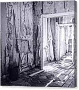 Bodie California In Black And White Canvas Print