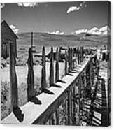 Bodie California Long Dusty Road Canvas Print